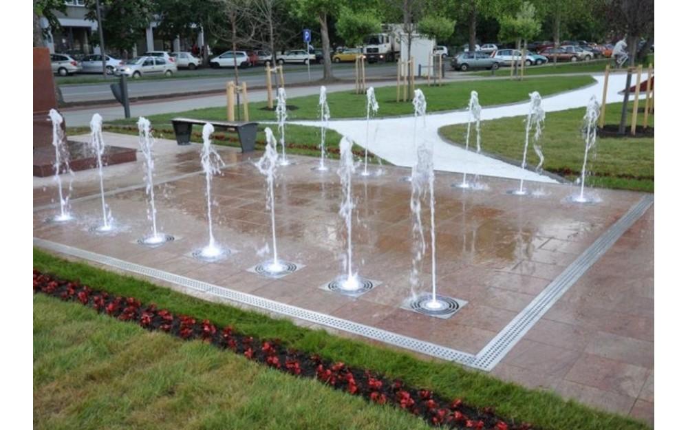 Dry Floor Fountain